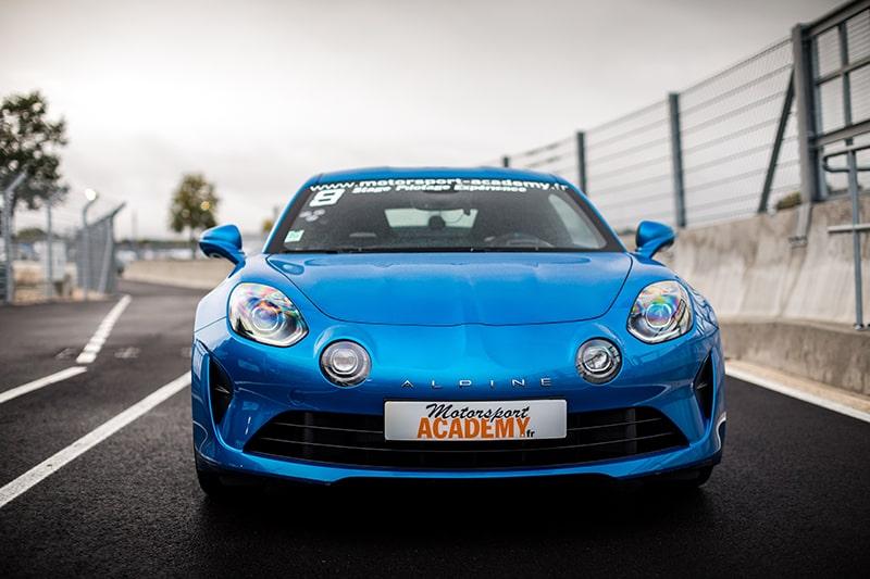 Alpine A110S Circuit Le Mans vu de nez Motorsport Academy